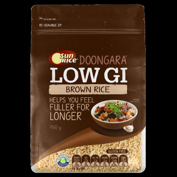 SunRice LOW GI Brown Rice 750g