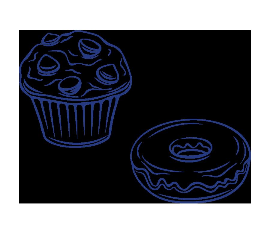 Cupcakes and doughnuts