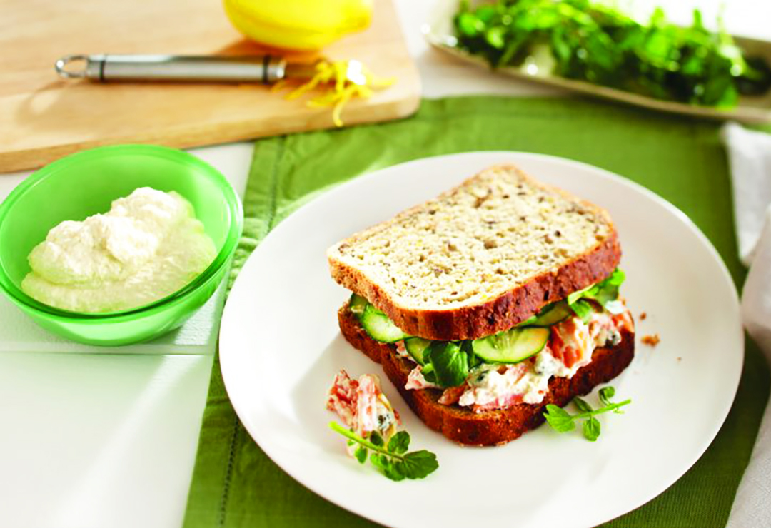 Herbed Salmon and Cress on Bürgen® Wholegrain and Oats