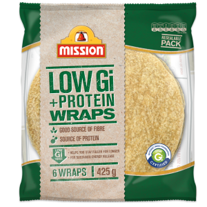 Mission Low GI + Protein wraps