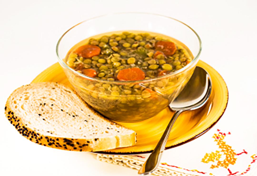 Feel-better lentil soup