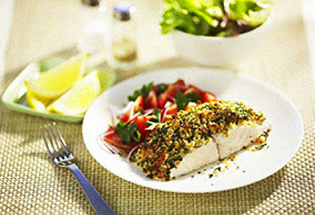 Herbed - crusted fish