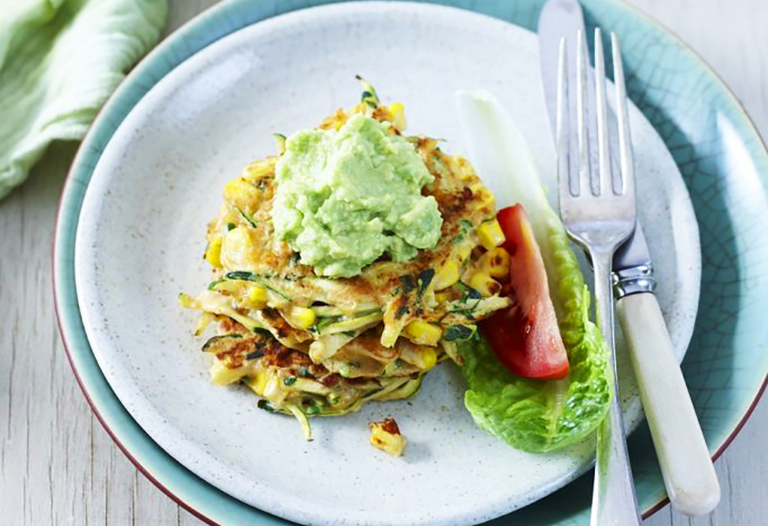 Mexican corn and zucchini fritters