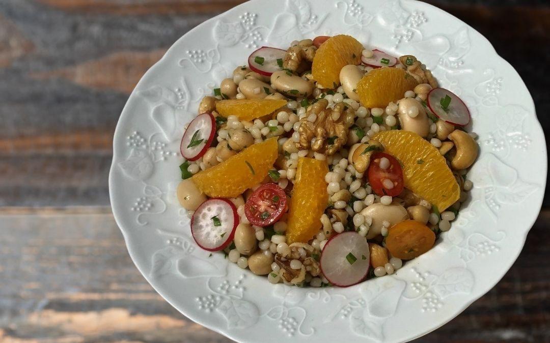 Vegan Pearl Couscous and Orange Salad