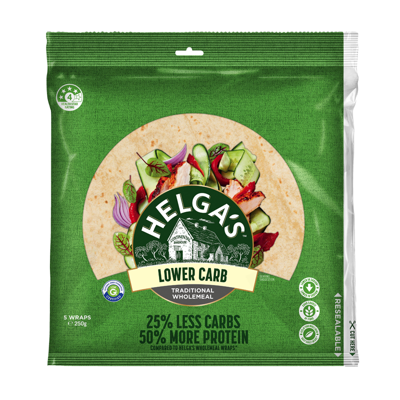 Helga's Lower Carb Wholemeal Wrap