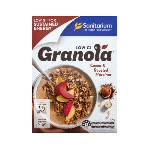 Sanitarium Low GI Granola - Cocoa & Roasted Hazelnut