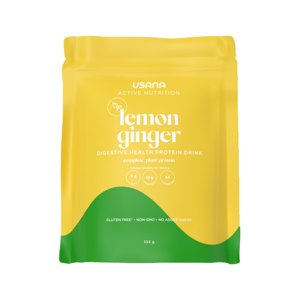 USANA Digestive Health Protein Drink Lemon Ginger