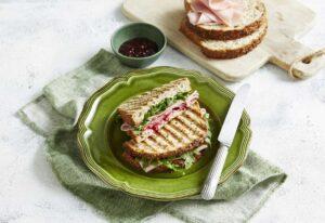 Ham, Goat's Cheese & Beetroot Toasties